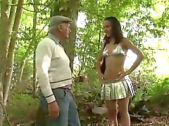 Awesome Teen Whore Fuck by Strangers in Woods