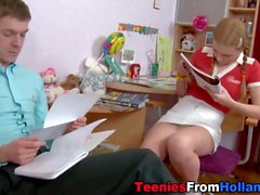 Pigtails teen face jizzed