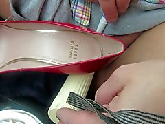 masterbating with my dildo and red pumps