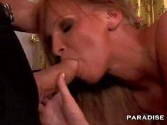 Slutty Brunette Chick Enjoys Double Penetration Action