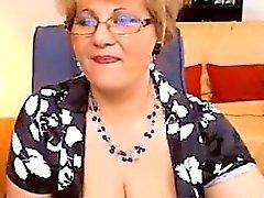 Gordura Granny Espectáculos as tetas dela