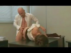 Roughly taking a secretary up her beautiful butt