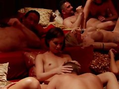 Hardcore orgy party with wonderful lustful sex