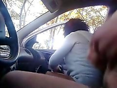 Hidden cam Blowjob in car near street