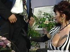 Explosive Massive Mature Tits Cum Showered Gangbang