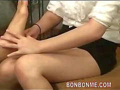 Cute foot masseur gets fucked by guest