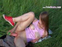 Beatas grass activities with huge toy