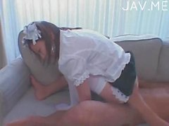 Japanese maid pounded