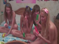 Four italian teens in live show