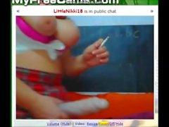 Sigara ve yapay penis gag