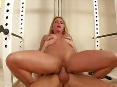 Wild Shayla Laveaux bounces her cunt on a huge prick