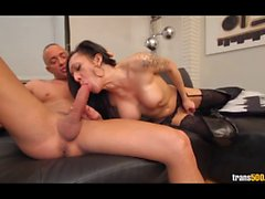 Susy Brasil loves sucking and fucking huge dick