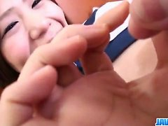 Cock sucking Yukari craves to swallow some jizz