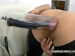 Dirty whore goes crazy masturbating part4