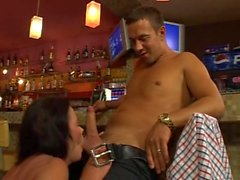 Brunette Mature In Bar