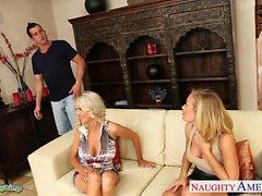 Vollbusige Babes Emma Starr und die Nicole Anistons geben Schwanz