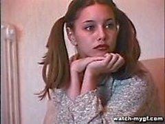 Modelo adolescente russo faz Anal
