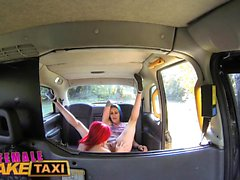 Female Fake Taxi outdoor pussy licking and fingering