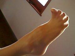 Aga's Feet in Pantyhose