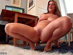 Horny brunette Dominica enjoys geting her ass stretched with toy