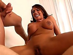 Brune pulpeuse à couguar Ariella de Ferrera Double ramonage pour