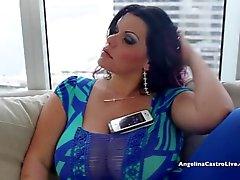 большой сиськастый Angelina Castro отчаянно испанского петуха !