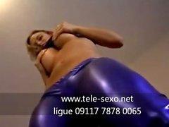 Fetish com roupa latex muito sensual tele-sexo 09117 7878 0065