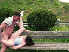 CHICAS LOCA - Outdoor sex with hot Russian babe Moray Moore