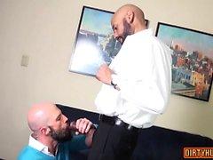 Muscle Homosexuell Flip Flop mit abspritzen