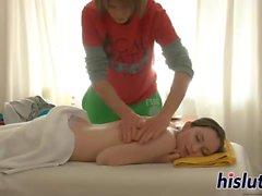 Hot massage turns into full-on fucking