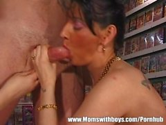 Mature Women Share Younger Stud For Blowjob And Fisting Fun