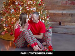 FamilyStrokes - Fucking My Stepdad On Christmas Morning