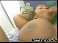 Black girlfriend with giant tits slammed part4