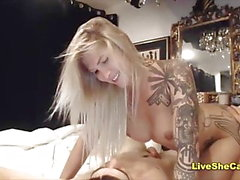 Sexy blonde Shemale und guy anal sex webcam