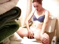 Sister masturbating on toilet