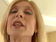 Blond mature analed in stockings