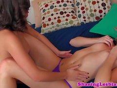 Lesbian girlfriend eating out dyke beauty
