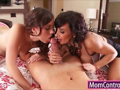 Giant boobs Milf Lisa Ann threesome sex with young couple