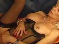 Pierced mature Eva Delage slut anal sex