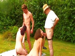 French group sex with hot matures