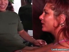 Hot milf loves drinking and fucking