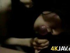 Japanese MILF Sucking Cock