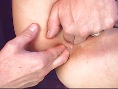 Fine redhead gets creampied with passion