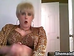 Crossdresser Masturbating