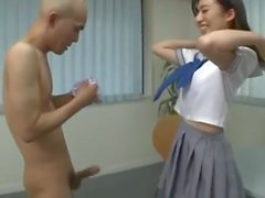 100% Nylon Japanese Panty Hand Job