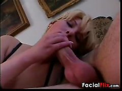 Blonde Chick Wants His Cum On Her Face