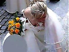 Todellista Lämmin Brides Upskirts !