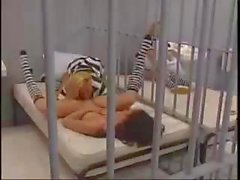 Two hot lesbian babes are in jail and do what cums naturally