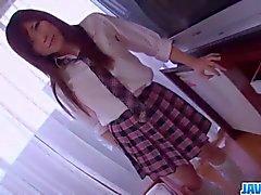 Smashing porn show along schoolgirl Riko Masaki