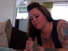 Tattiana Tattooed Gives A Nasty Blowjob